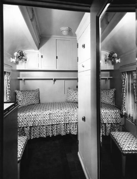 Canadian National Railway Photograph - Bedroom On The Royal Train by Underwood Archives