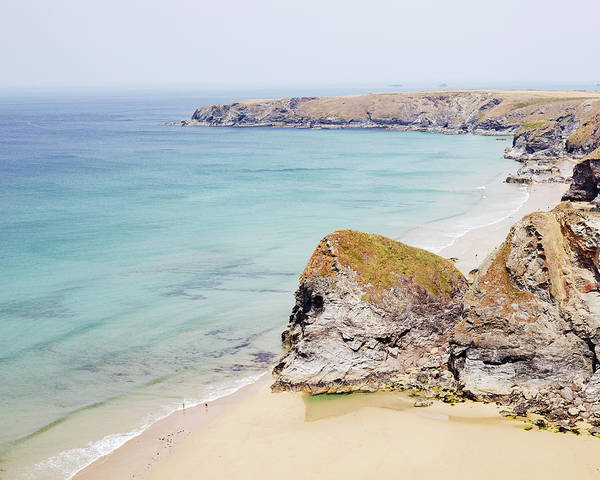 High Water Mark Photograph - Bedruthan Cliffs by Mark Leary