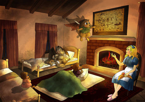 Painting - Bedtime by Reynold Jay