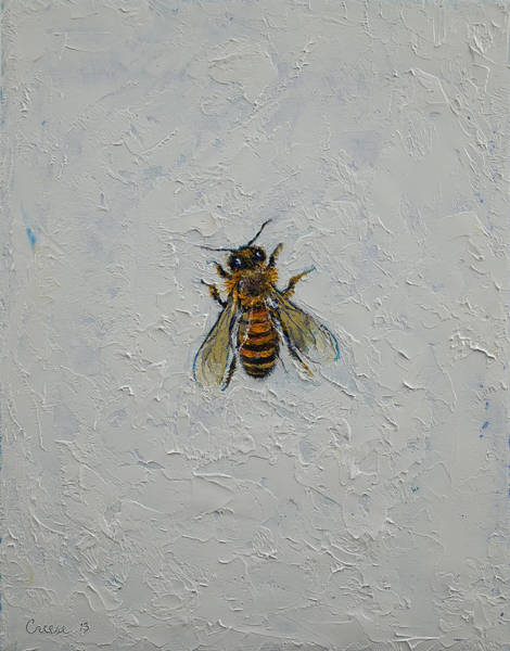 Insect Wall Art - Painting - Bee by Michael Creese