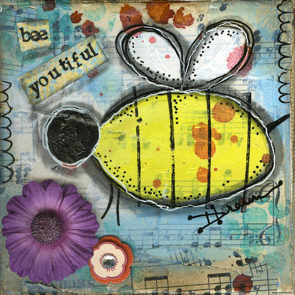 Bumble Bee Wall Art - Painting - Bee Youtiful by Denise Braun