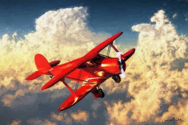 Digital Art - Beechcraft Model 17 Staggerwing by Daniel Eskridge