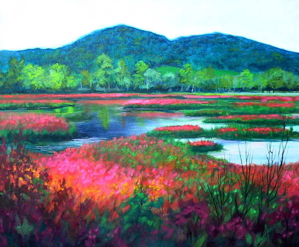Painting - Beef River Slough by Sherri Anderson