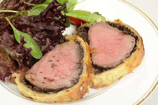 Photograph - Beef Wellington Meal by Paul Cowan