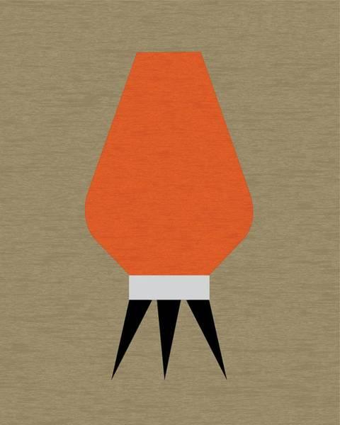 Digital Art - Beehive Lamp Orange by Donna Mibus