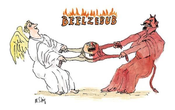 Devil Drawing - 'beelzebub' by William Steig
