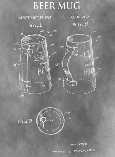Drunk Mixed Media - Beer Mug Patent by Dan Sproul