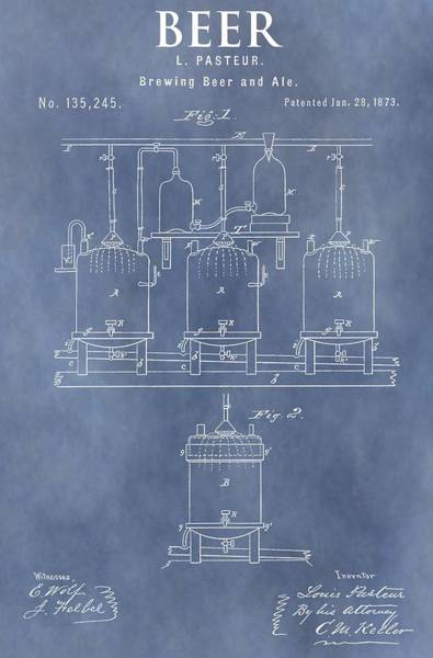 Wall Art - Mixed Media - Beer Patent by Dan Sproul