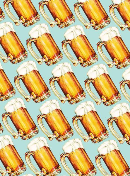 Dad Painting - Beer Pattern by Kelly Gilleran
