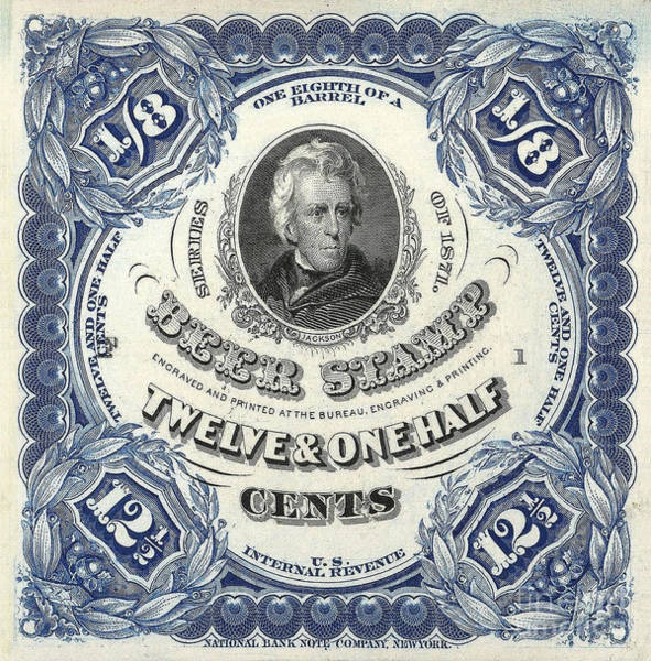 Stamp Photograph - Beer Tax Stamp by Jon Neidert