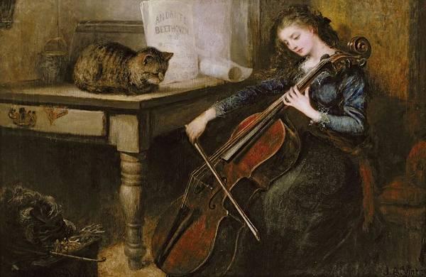 Cellist Painting - Beethovens Andante by John Alfred Vintner