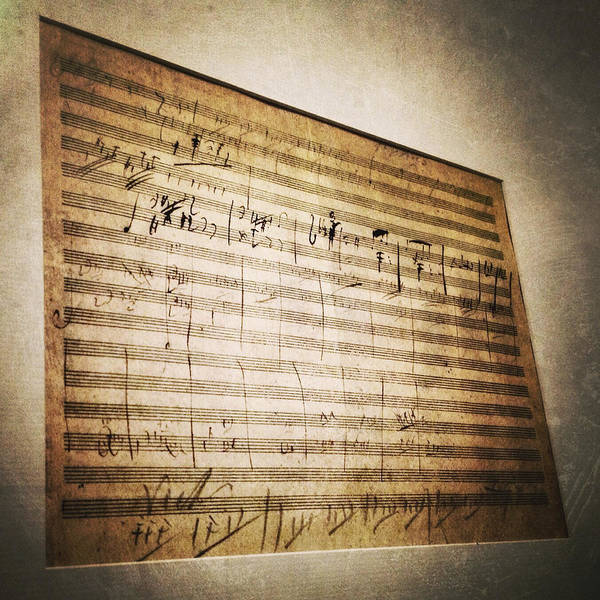 Photograph - Beethoven's Battle Symphony Sketches by Natasha Marco