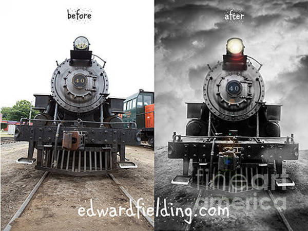 Loco Wall Art - Photograph - Before And After Demo by Edward Fielding