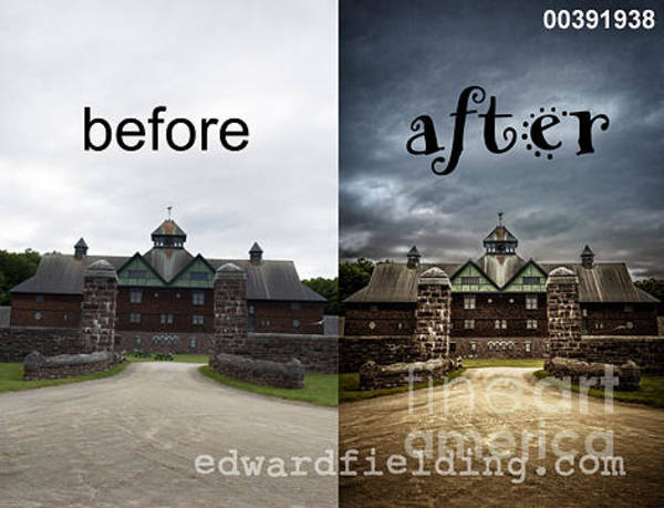 Driveway Photograph - Before And After by Edward Fielding
