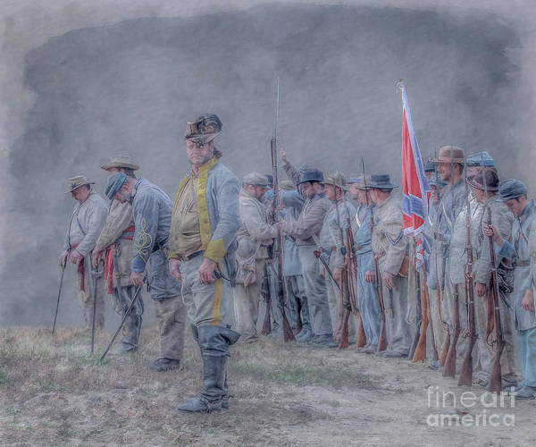 Before Battle Roll Call Confederate Infantry Art Print