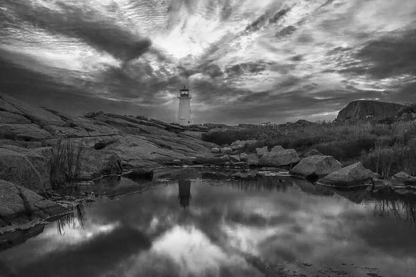 Photograph - Before Dawn Bw by Jim Dollar