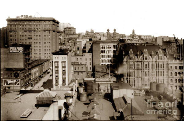 Photograph - Nob Hill From Flood Building Before San Francisco Earthquake And Fire Of April 18 1906 by California Views Archives Mr Pat Hathaway Archives