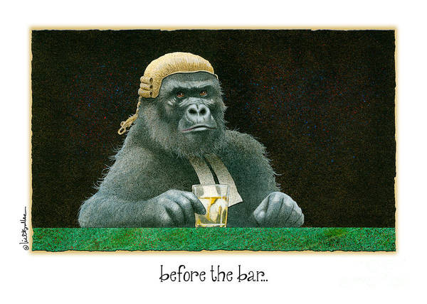 Gorilla Painting - Before The Bar... by Will Bullas