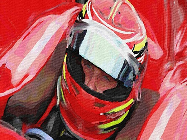 Mixed Media - Before The Green Flag by Dennis Buckman