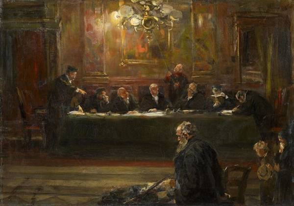 Defendant Painting - Before The Judges by Ferdinand Brutt