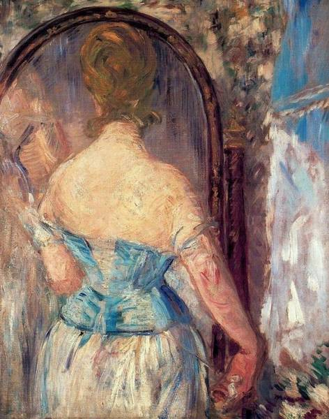 Wall Art - Painting - Before The Mirror by Edouard Manet