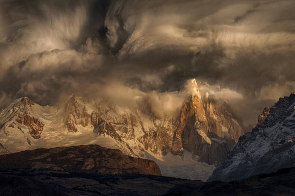 Cold Weather Wall Art - Photograph - Before The Storm Covers The Mountains Spikes by Peter Svoboda, Mqep