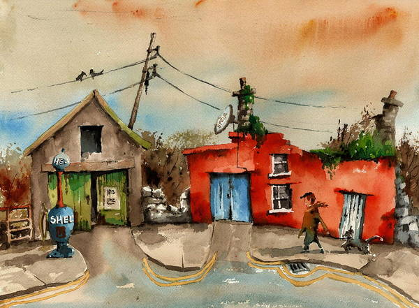 Painting - Before Unleaded  In 95 by Val Byrne