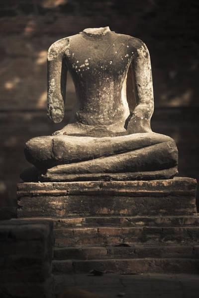 Photograph - Beheaded Buddha by Maria Heyens