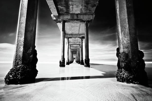 Scripps Pier Photograph - Behemoth II by Ryan Weddle