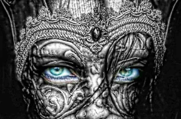 Wall Art - Photograph - Behind Blue Eyes by Mo T