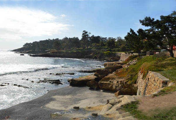 Digital Art - Behind The 18th At Pebble Beach by Barbara Snyder