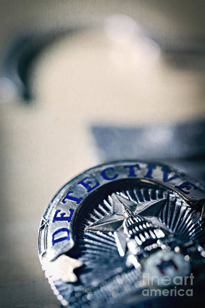 Photograph - Behind The Badge by Trish Mistric