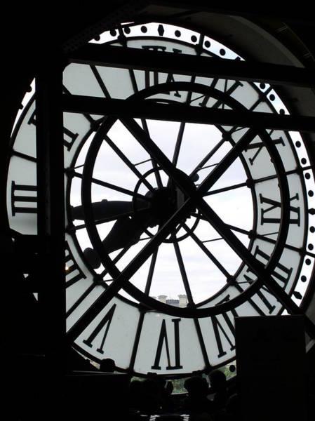 Behind The Clock II Art Print