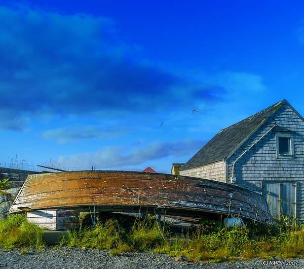 Halifax Nova Scotia Digital Art - Behind The Fishing Shed by Ken Morris