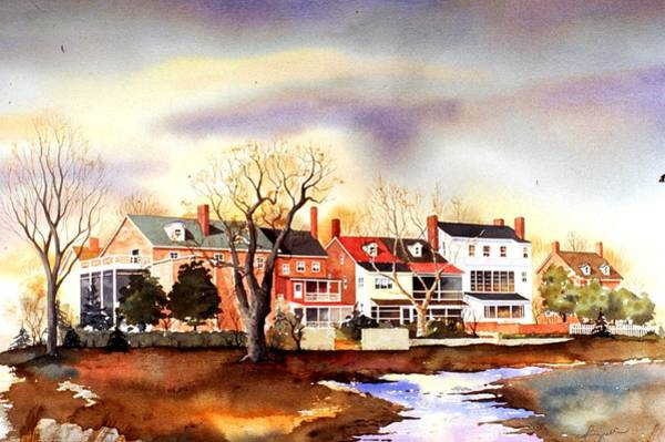 Painting - Behind The Strand In New Castle by William Renzulli