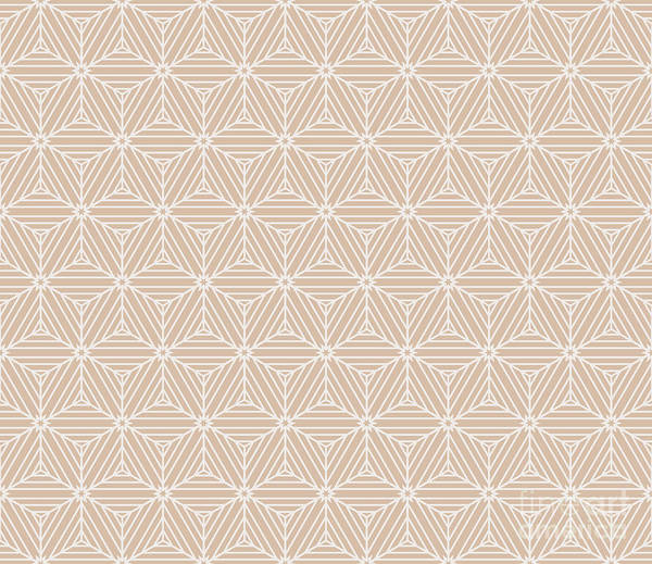 Digital Illustration Digital Art - Beige Color Seamless Texture Of Cubes by Mademoiselle De Erotic