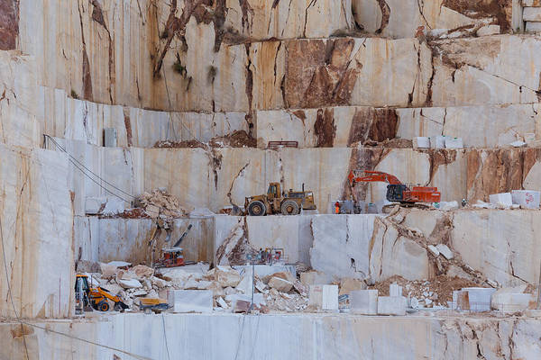 Photograph - Beige Marble Quarry by Paul Indigo