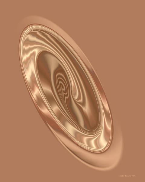 Digital Art - Beige Satin Oval 1 by Judi Suni Hall