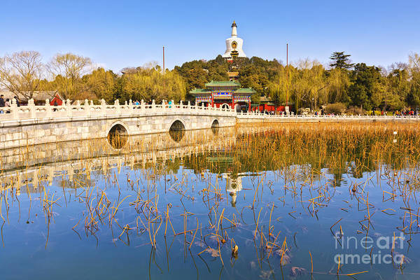 Beijing Photograph - Beijing Beihai Park And The White Pagoda by Colin and Linda McKie