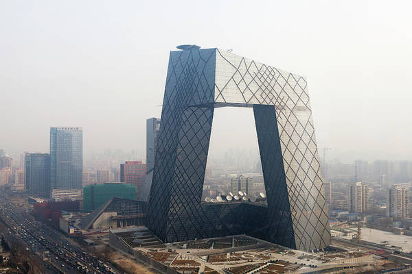 Beijing Cctv Tower, Rem Koolhaas Art Print