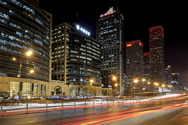 Changan Photograph - Beijing - Central Business District - China by Brendan Reals