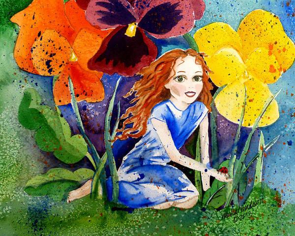 Tiny Flower Fairy Art Print