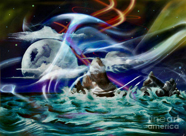Painting - Beings Of Eternal Light And Water by David Neace