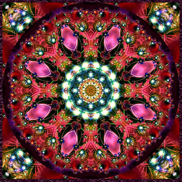 Digital Art - Bejewelled Mandala No 1 by Charmaine Zoe