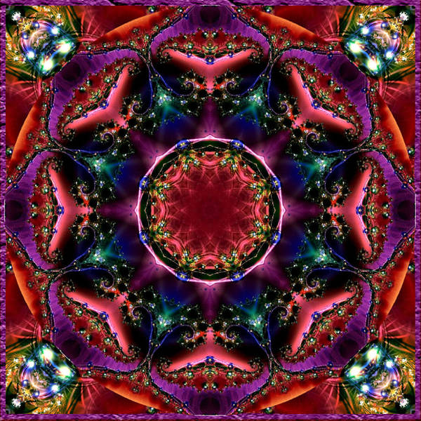 Digital Art - Bejewelled Mandala No 3 by Charmaine Zoe