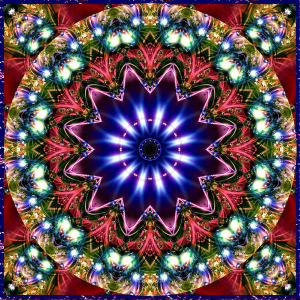 Digital Art - Bejewelled Mandala No 5 by Charmaine Zoe