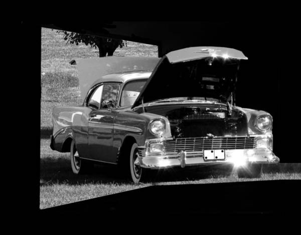 Photograph - Bel Air 1950s  Blk-wht - Featured In The Oof And Everything Manufactured Groups   by Ericamaxine Price