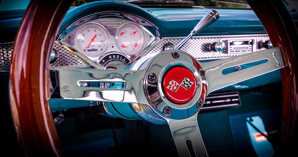 Photograph - Bel Air Wheel And Dash by David Morefield