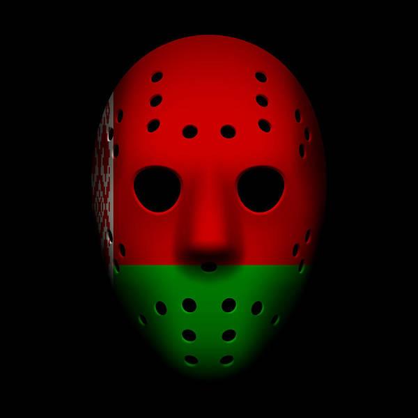World Championship Photograph - Belarus Goalie Mask by Joe Hamilton