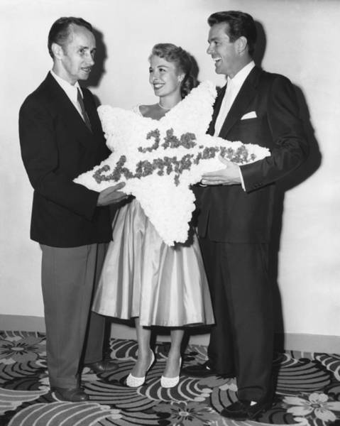 Photograph - Belcher Honors Champions by Underwood Archives